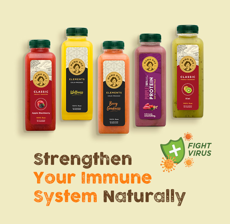 Mama Roz Cold Press Juice - Strengthen Immune and Fight Virus - Mobile